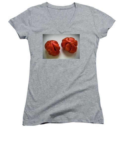 Redtomatoes Women's V-Neck T-Shirt (Junior Cut) by Vladimir Kholostykh