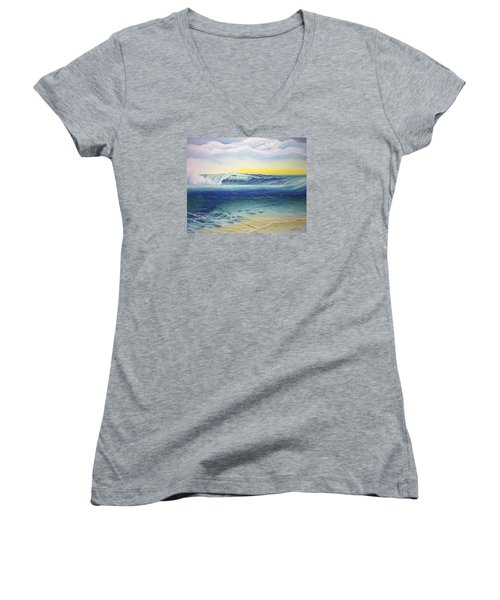 Reef Bowl Women's V-Neck T-Shirt (Junior Cut) by William Love