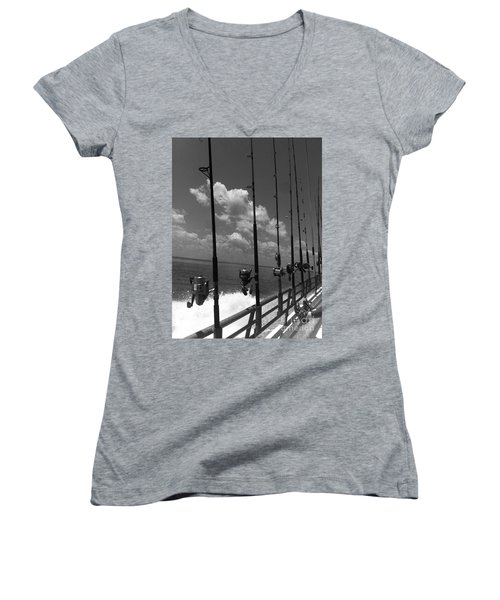 Reel Clouds Women's V-Neck T-Shirt