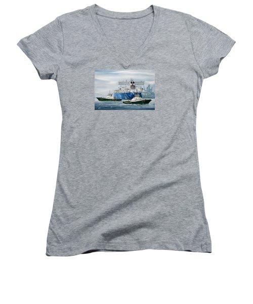 Refinery Tanker Escort Women's V-Neck T-Shirt