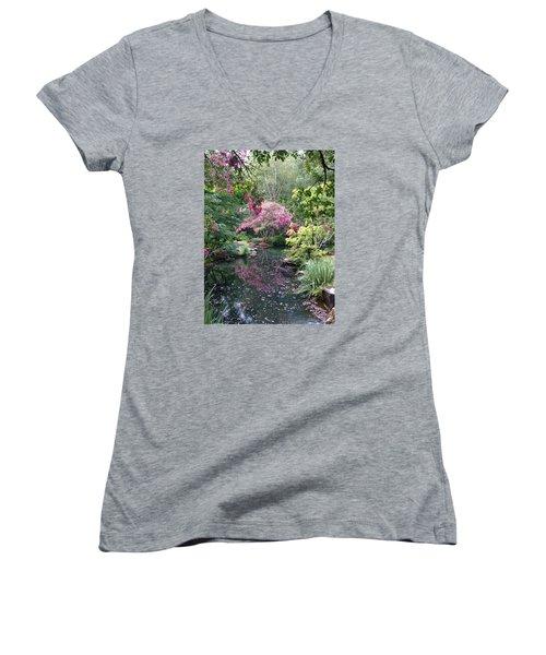 Reflecting Crape-myrtles Women's V-Neck T-Shirt