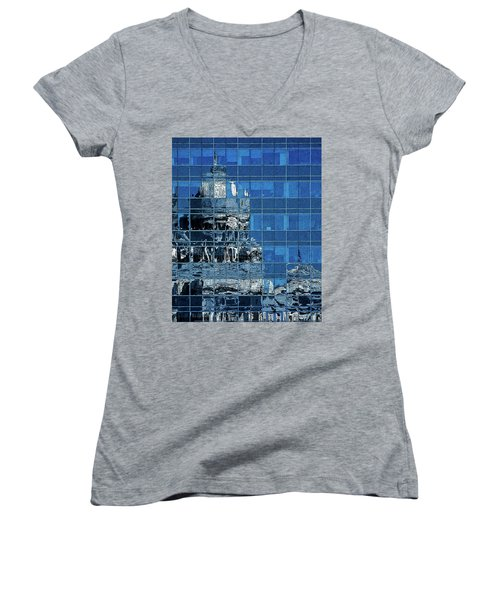 Reflection And Refraction Women's V-Neck T-Shirt (Junior Cut) by Alex Galkin