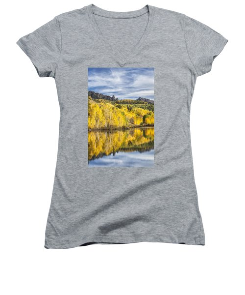 Reflection With Ophir Needles I Women's V-Neck