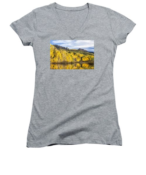 Reflection With Ophir Needles II Women's V-Neck
