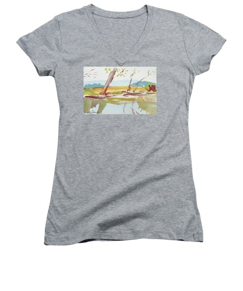 Quiet Stream Women's V-Neck