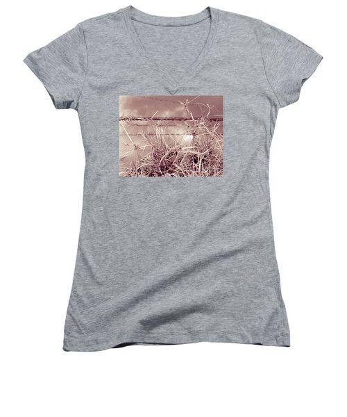 Reflections 1 Women's V-Neck T-Shirt (Junior Cut) by Mukta Gupta
