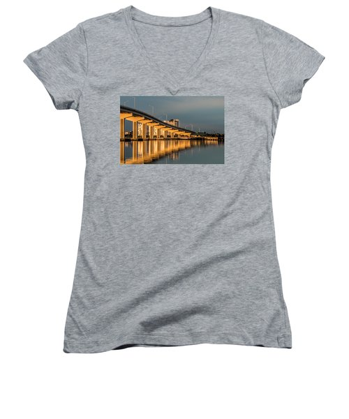 Reflections And Bridge Women's V-Neck