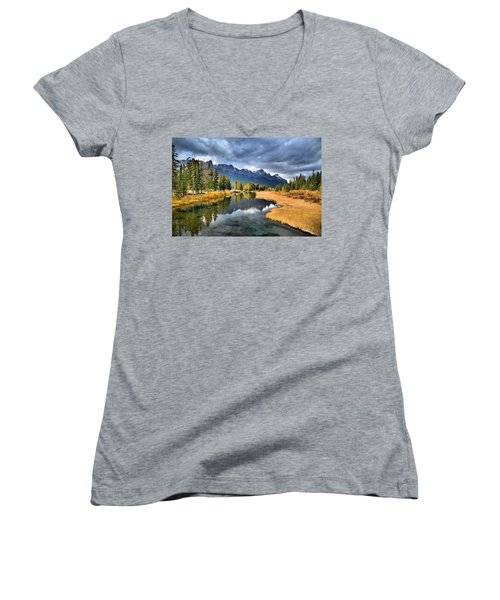 Reflections In Canmore Women's V-Neck