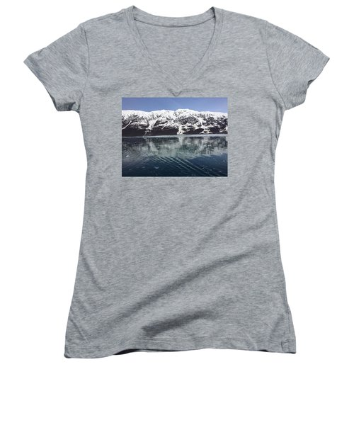 Reflections In Icy Point Alaska Women's V-Neck