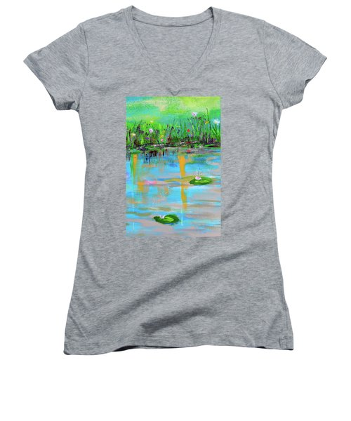 Reflections In Spring Women's V-Neck (Athletic Fit)