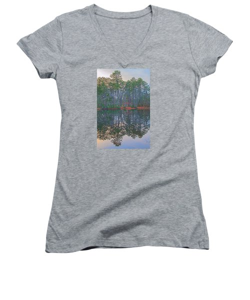 Reflections In The Pines Women's V-Neck (Athletic Fit)