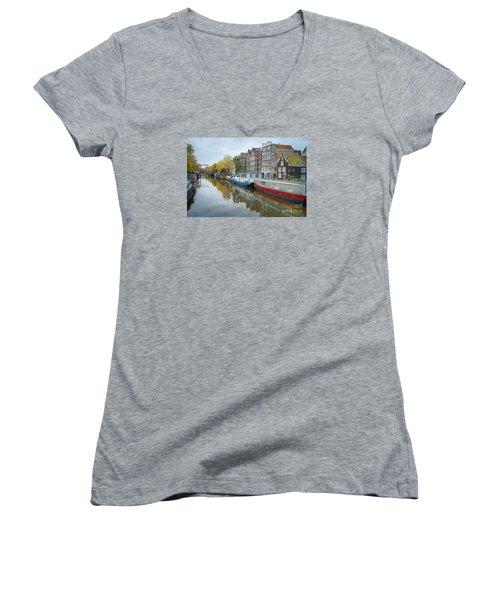 Reflections Of Amsterdam Women's V-Neck T-Shirt