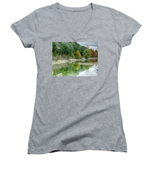 Reflections Of Fall Women's V-Neck