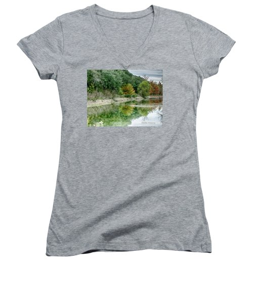 Reflections Of Fall Women's V-Neck (Athletic Fit)