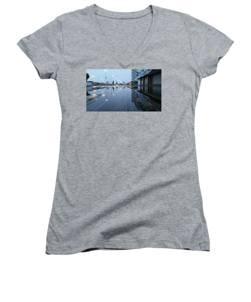 Reflections Of The Boardwalk Women's V-Neck