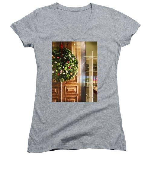 Reflections On Christmas Women's V-Neck T-Shirt