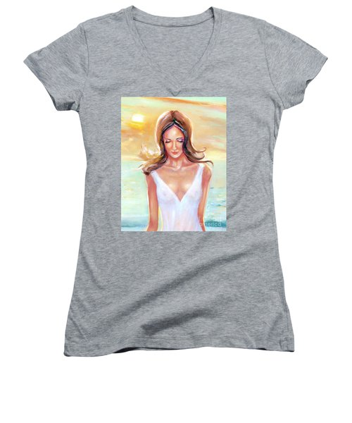 Reflective Women's V-Neck (Athletic Fit)