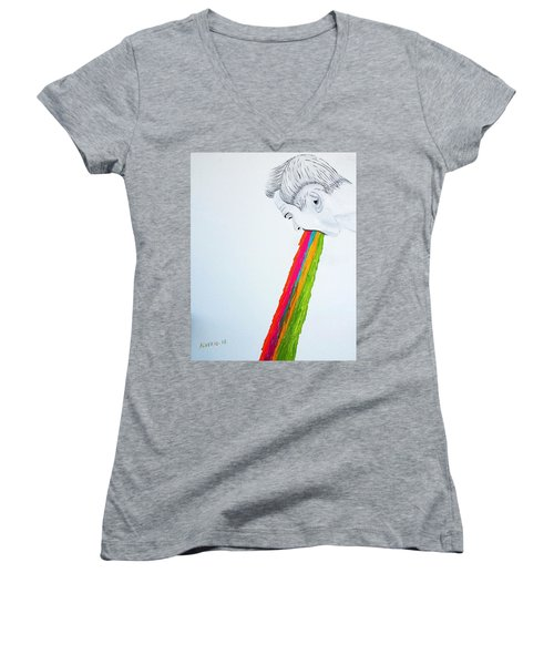 Regurgitate Women's V-Neck T-Shirt
