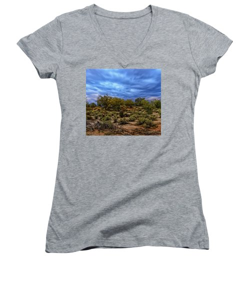 Women's V-Neck T-Shirt featuring the photograph Rejuvenation Op19 by Mark Myhaver
