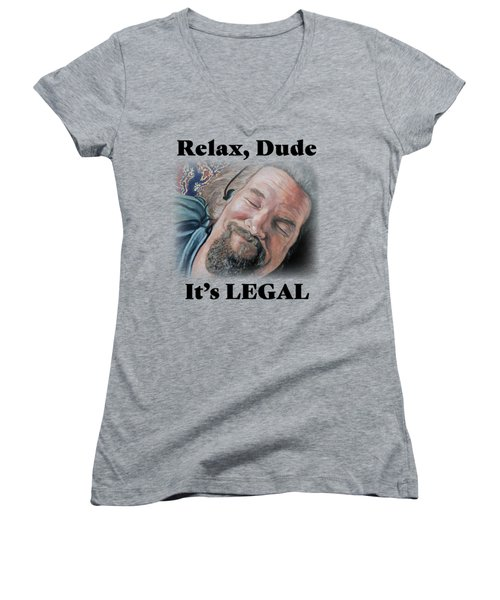 Relax, Dude Women's V-Neck (Athletic Fit)