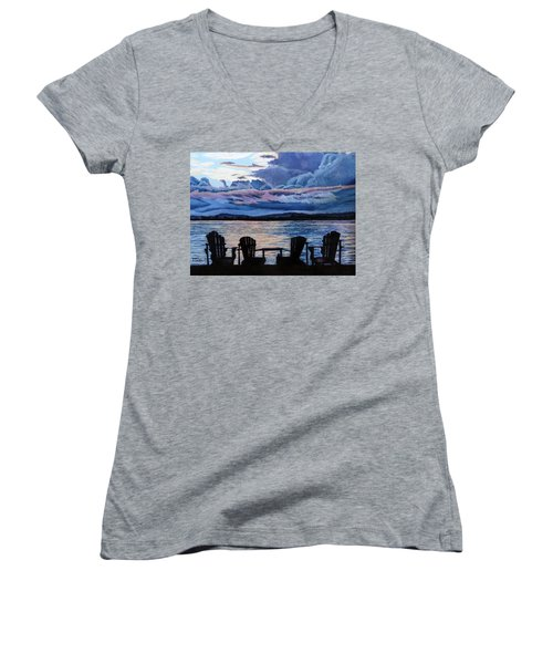 Relax Women's V-Neck T-Shirt (Junior Cut) by Marilyn McNish