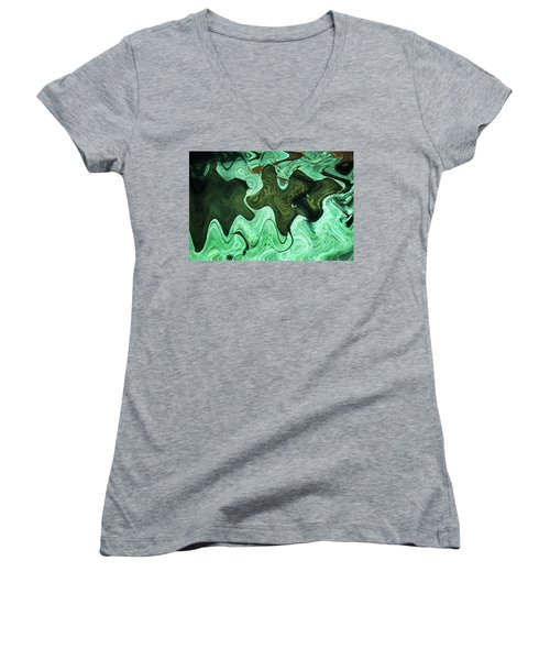 Relaxing Abstract Of Rays And Sharks Women's V-Neck