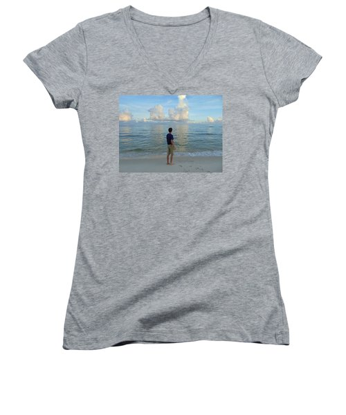 Relaxing By The Ocean Women's V-Neck