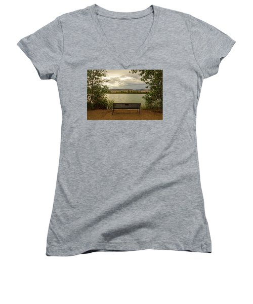Women's V-Neck T-Shirt featuring the photograph Relaxing View by James BO Insogna