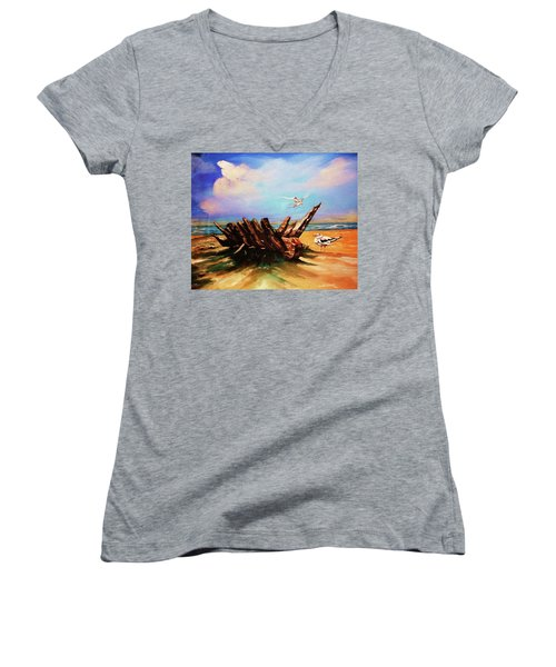 Relic Washed Ashore Women's V-Neck T-Shirt