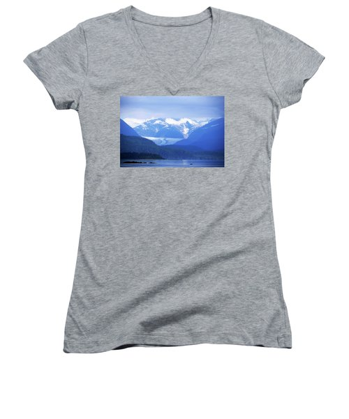 Remains Of A Glacier Women's V-Neck