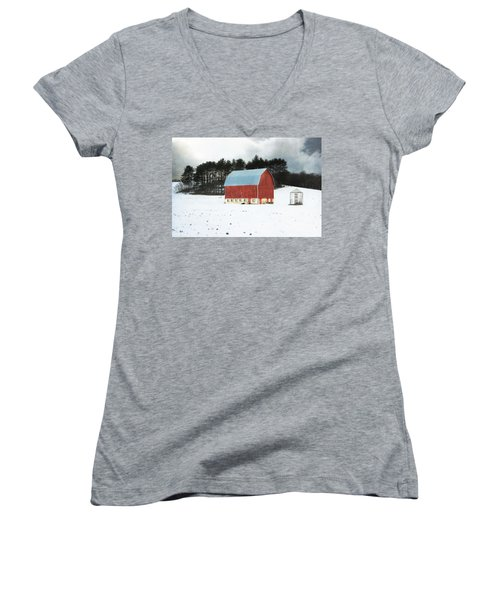 Women's V-Neck T-Shirt (Junior Cut) featuring the photograph Rembering The Good Old Days by Julie Hamilton