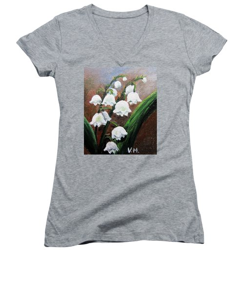 Remember The Scent Women's V-Neck T-Shirt (Junior Cut) by Vesna Martinjak