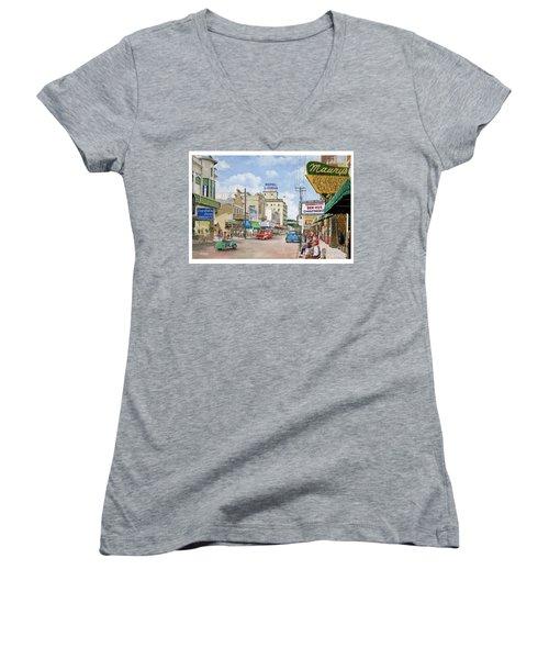 Remembering Duval St. Women's V-Neck T-Shirt (Junior Cut)