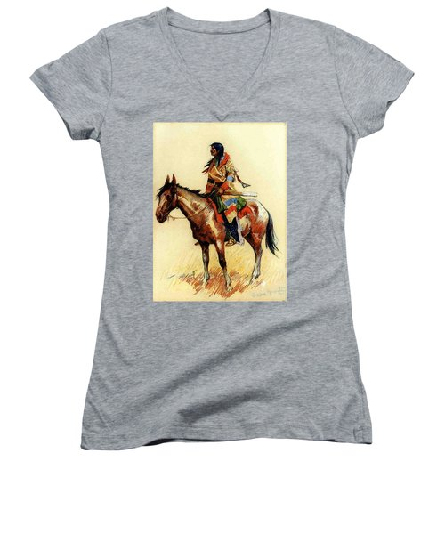 Remington Frederic A Breed Women's V-Neck T-Shirt