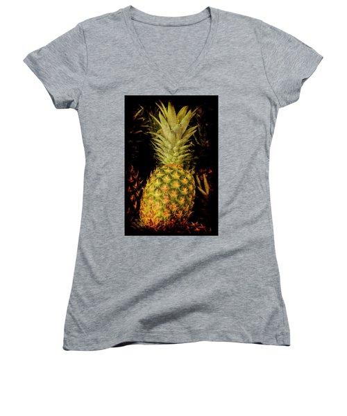 Renaissance Pineapple Women's V-Neck