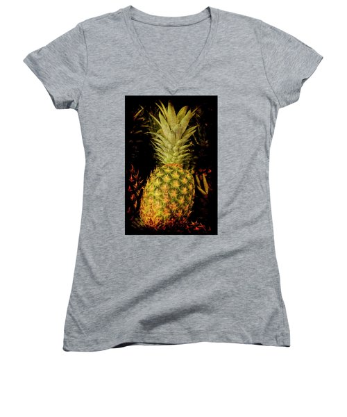 Renaissance Pineapple Women's V-Neck (Athletic Fit)