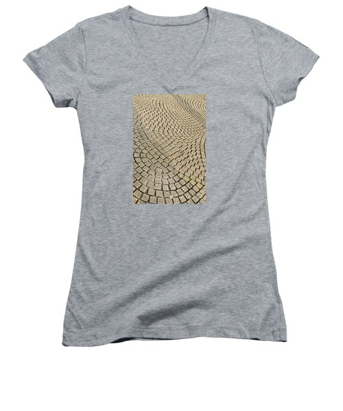 Women's V-Neck T-Shirt (Junior Cut) featuring the photograph Repetitions by Wanda Krack