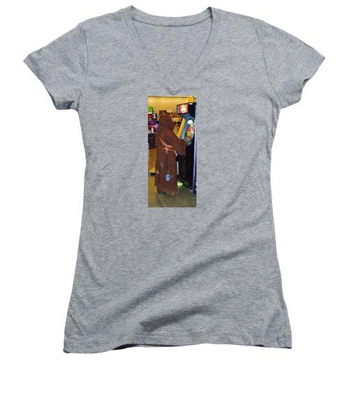 Replay Fx 2015 #4 Women's V-Neck T-Shirt (Junior Cut) by William Bartholomew