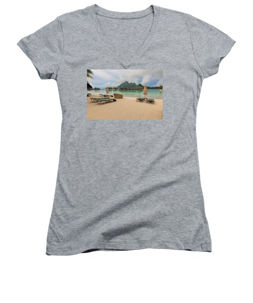 Resort Life Women's V-Neck T-Shirt (Junior Cut) by Sharon Jones