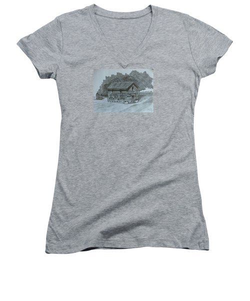 Rest In Pieces  Women's V-Neck T-Shirt (Junior Cut) by Tony Clark