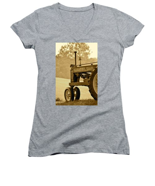 Resting In Sepia Women's V-Neck T-Shirt (Junior Cut)