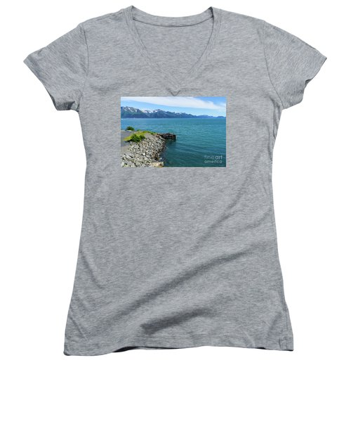 Resurrection Bay Women's V-Neck T-Shirt (Junior Cut) by Jennifer White