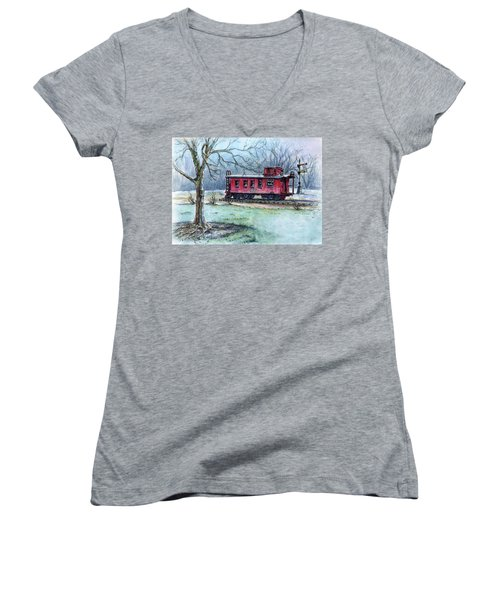 Retired Red Caboose Women's V-Neck