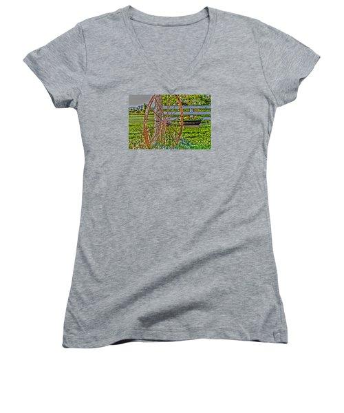 Retired Women's V-Neck T-Shirt (Junior Cut) by William Norton
