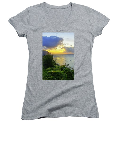 Women's V-Neck T-Shirt (Junior Cut) featuring the photograph Return by Chad Dutson