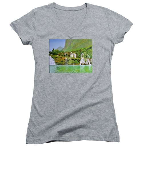 Returned To Paradise Women's V-Neck (Athletic Fit)