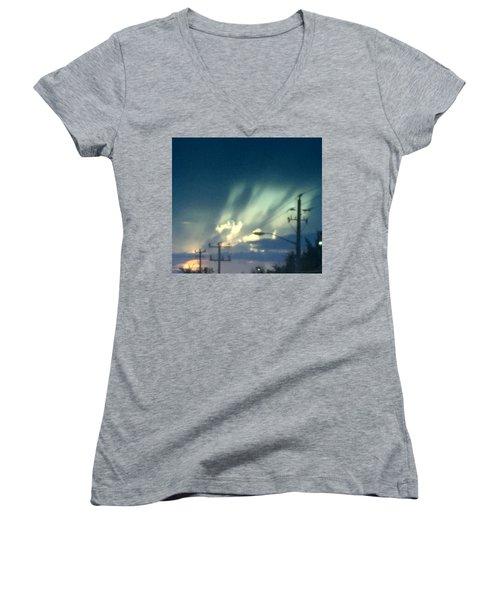 Revival Women's V-Neck T-Shirt (Junior Cut) by Audrey Robillard