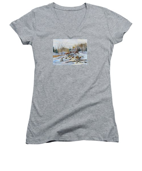 Reynold's Sugar Shack Women's V-Neck T-Shirt