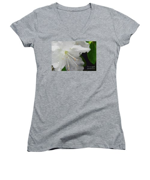 Rhododendron Blossom Women's V-Neck (Athletic Fit)