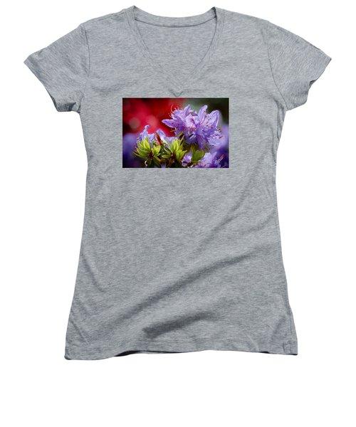 Rhododendron Bluebird Women's V-Neck